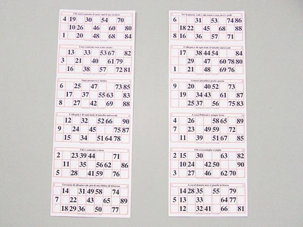 Biglietti tombola